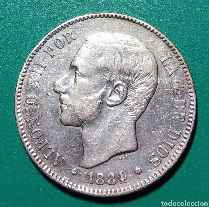5 PESETAS PLATA 1884. MSM. ALFONSO XII. (Numismática - España Modernas y Contemporáneas - De Isabel II (1.834) a Alfonso XIII (1.931))