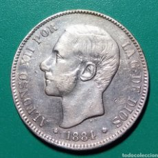 Monedas de España: 5 PESETAS PLATA 1884. MSM. ALFONSO XII.. Lote 146295790