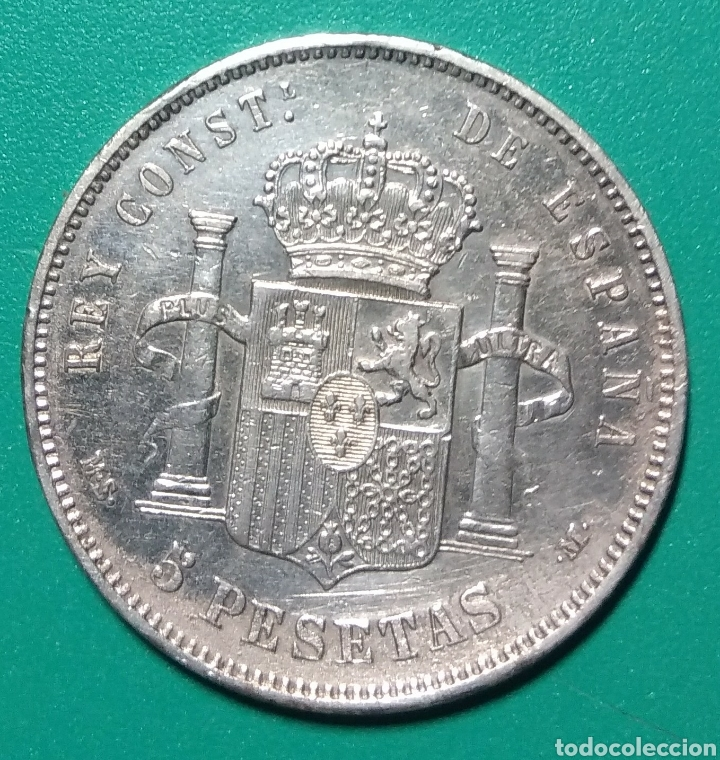 Monedas de España: 5 Pesetas plata 1884. MSM. Alfonso XII. - Foto 2 - 146295790