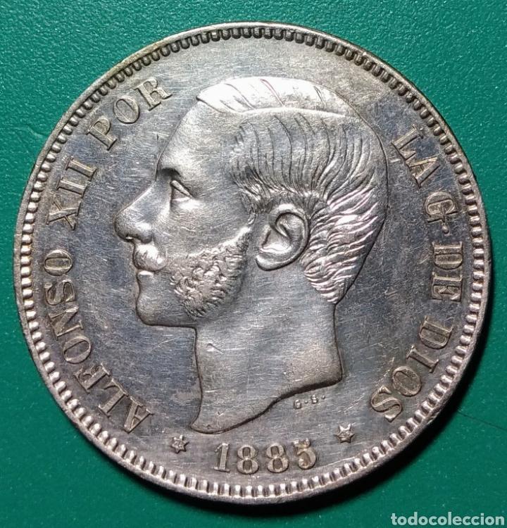 5 PESETAS PLATA 1885 *85. MSM. ALFONSO XII. (Numismática - España Modernas y Contemporáneas - De Isabel II (1.834) a Alfonso XIII (1.931))