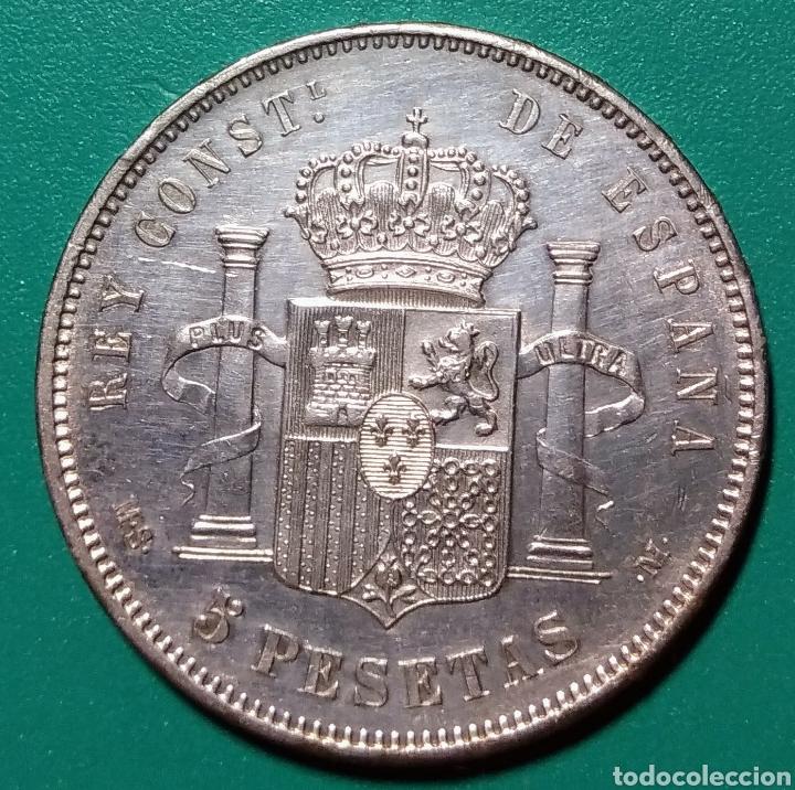Monedas de España: 5 Pesetas plata 1885 *85. MSM. Alfonso XII. - Foto 2 - 146305404