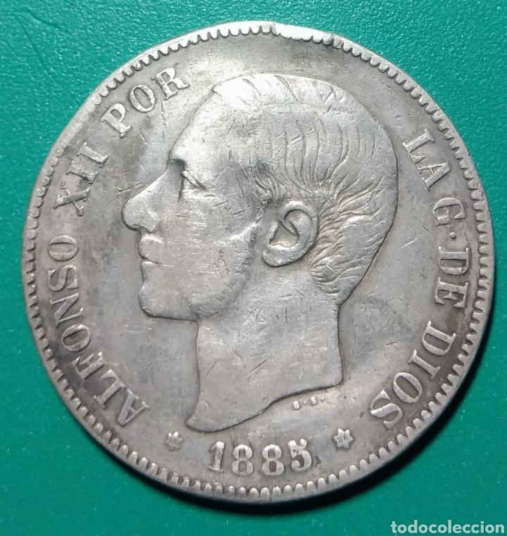5 PESETAS PLATA 1885 *86. MSM. ALFONSO XII. (Numismática - España Modernas y Contemporáneas - De Isabel II (1.834) a Alfonso XIII (1.931))