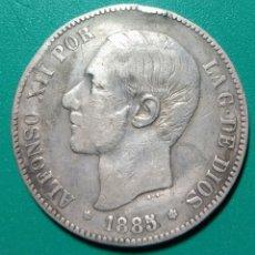 Monedas de España: 5 PESETAS PLATA 1885 *86. MSM. ALFONSO XII.. Lote 202373737