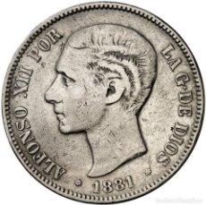 Monedas de España: ALFONSO XII 5 PESETAS PLATA 1881*18-XX MSM MBC- ESCASA. Lote 146453046
