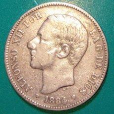 Monedas de España: 5 PESETAS PLATA 1884. MSM. ALFONSO XII.. Lote 146454582