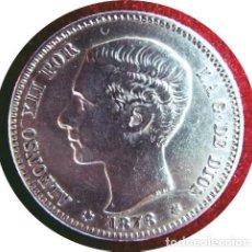 Monedas de España: ALFONSO XII - UNA EXTRAORDINARIA PESETA DE 1876 *18 *76 - ¡¡MUY ESCASA!! - PLATA. Lote 146472422