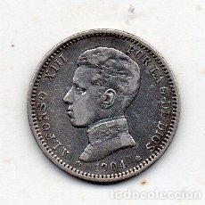Monedas de España: ALFONSO XIII. 1 PESETA. AÑO 1904 *19 *04. PLATA.. Lote 146521070