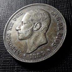 Monedas de España: ALFONSO XII 5 PESETAS PLATA 1884*18-84 MSM MBC PÁTINA OSCURA. Lote 146596514