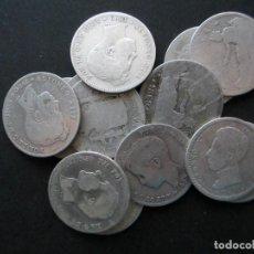 Monedas de España: MONEDA DE 1 PESETA DE PLATA (LOTE DE 13 ARRAS) VARIOS AÑOS. Lote 146702958