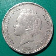 Monedas de España: 5 PESETAS PLATA 1894 PGV. ALFONSO XIII. Lote 146712084