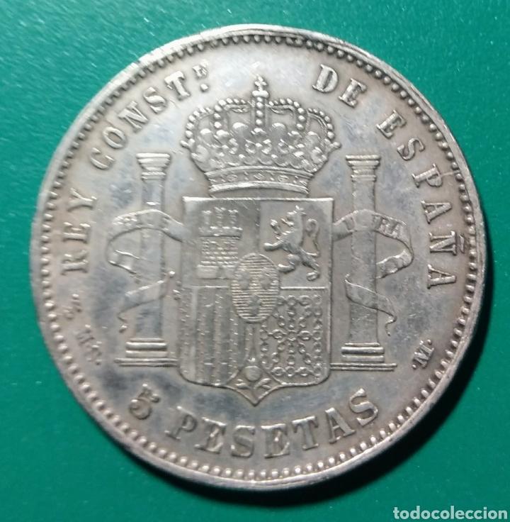 Monedas de España: 5 Pesetas plata 1894 MSM. Alfonso XIII. Falso de época. - Foto 2 - 146714132