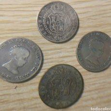 Monedas de España: 4 MONEDAS DE 4 REALES ISABEL II MADRID CL. Lote 146784777