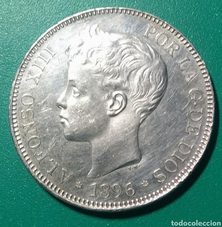 5 PESETAS PLATA 1896 PGV. ALFONSO XIII. (Numismática - España Modernas y Contemporáneas - De Isabel II (1.834) a Alfonso XIII (1.931))