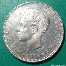 Monedas de España: 5 PESETAS PLATA 1896 PGV. ALFONSO XIII.. Lote 146953972
