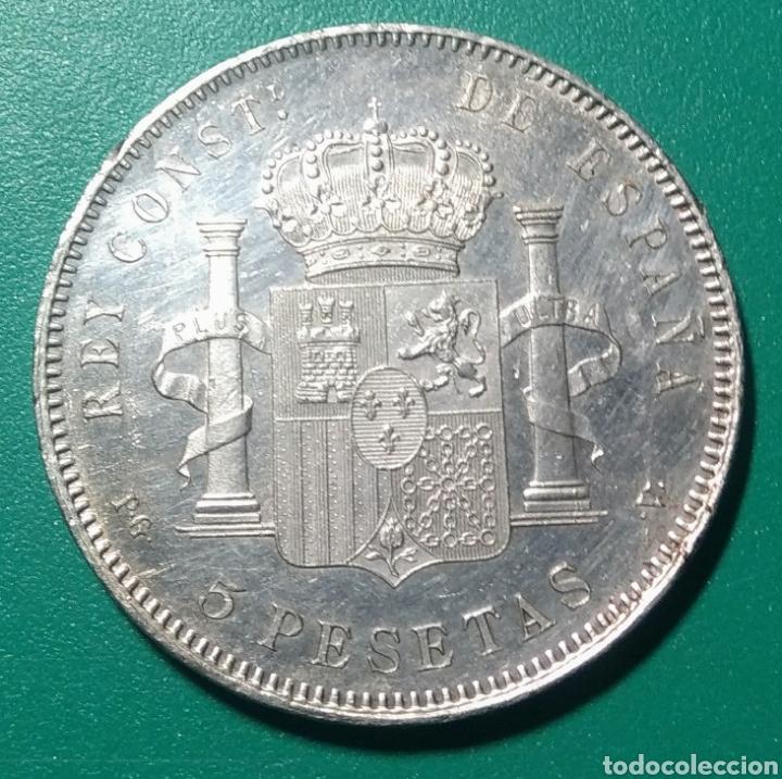 Monedas de España: 5 Pesetas plata 1896 PGV. Alfonso XIII. - Foto 2 - 146953972