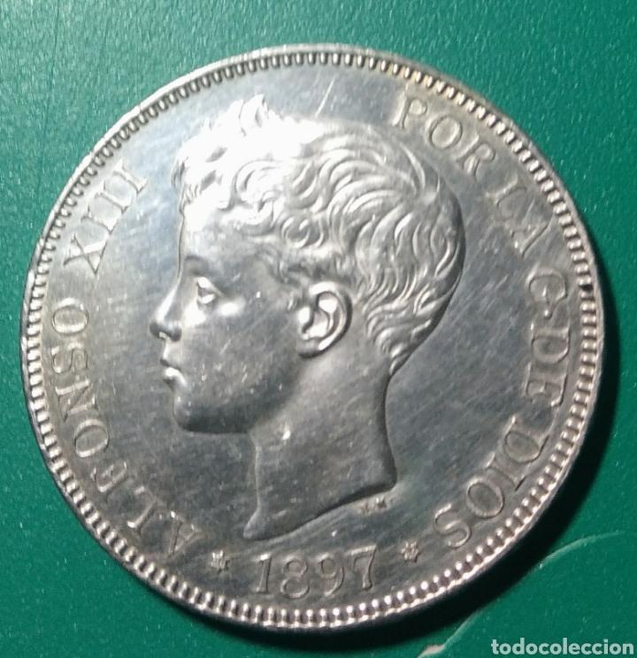 5 PESETAS PLATA 1897 SGV. ALFONSO XIII. (Numismática - España Modernas y Contemporáneas - De Isabel II (1.834) a Alfonso XIII (1.931))