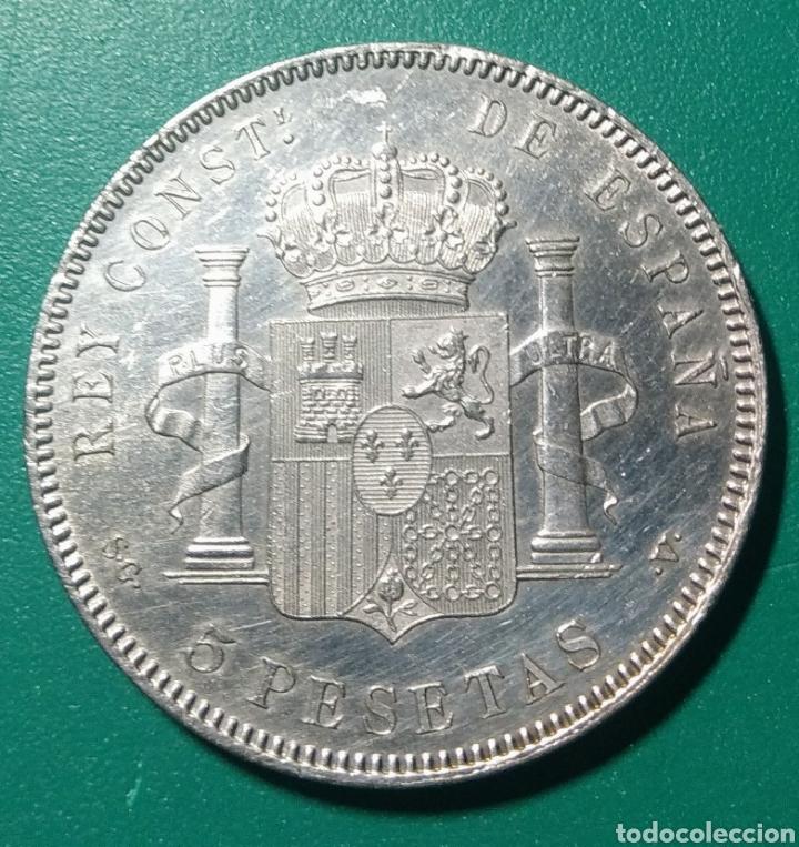 Monedas de España: 5 Pesetas plata 1897 SGV. Alfonso XIII. - Foto 2 - 146956193