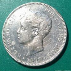 Monedas de España: 5 PESETAS PLATA 1898 SGV. ALFONSO XIII.. Lote 146958286