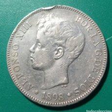 Monedas de España: 5 PESETAS PLATA 1898 SGV. ALFONSO XIII.. Lote 146960082