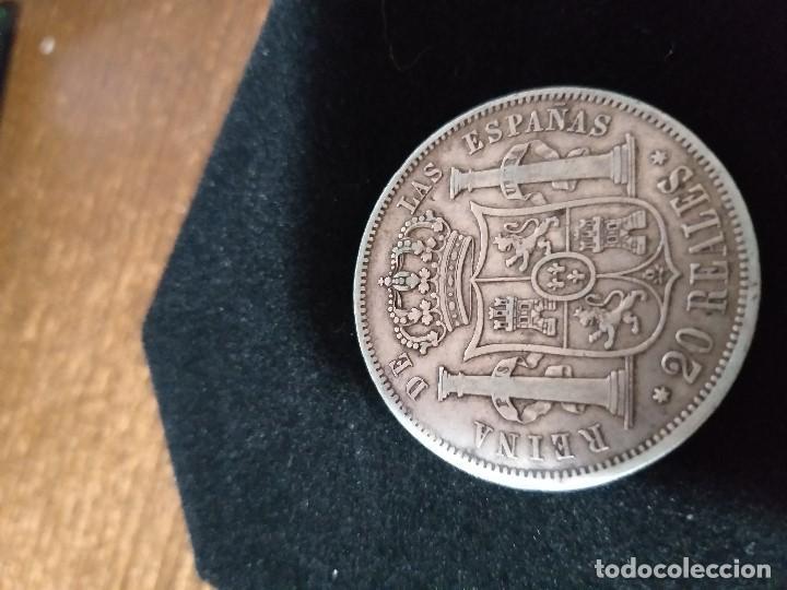 Monedas de España: ESPECTACULAR MONEDA 20 REALES PLATA ISABEL II 1861 - Foto 5 - 147013702