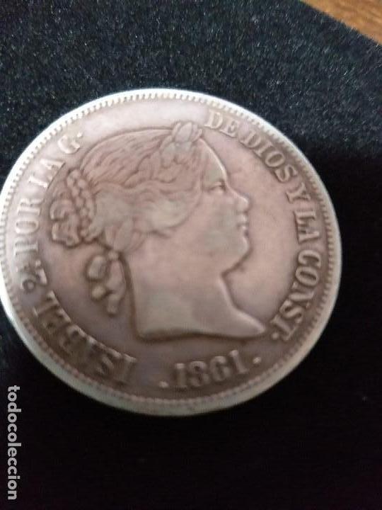 ESPECTACULAR MONEDA 20 REALES PLATA ISABEL II 1861 (Numismática - España Modernas y Contemporáneas - De Isabel II (1.834) a Alfonso XIII (1.931))