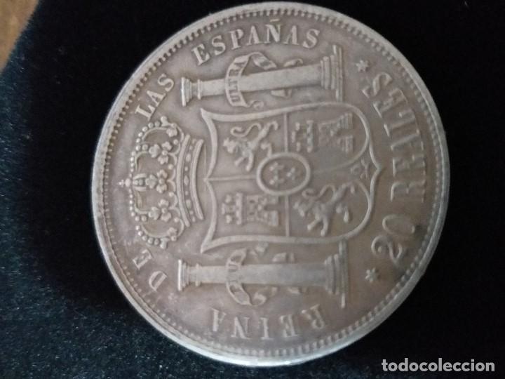 Monedas de España: ESPECTACULAR MONEDA 20 REALES PLATA ISABEL II 1864 - Foto 2 - 147013886