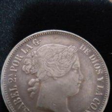 Monedas de España: ESPECTACULAR MONEDA 20 REALES PLATA ISABEL II 1864. Lote 147013886