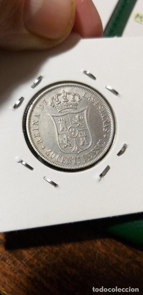 Monedas de España: ESPECTACULAR MONEDA 40 CENTIMOS ESCUDO MADRID ISABEL II PLATA 1866 CASI SIN CIRCULAR - Foto 2 - 147029470
