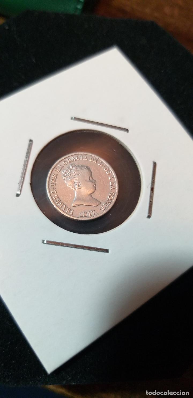 RARA Y ESCASA MONEDA 1 REAL PLATA ISABEL II 1847 MADRID (Numismática - España Modernas y Contemporáneas - De Isabel II (1.834) a Alfonso XIII (1.931))