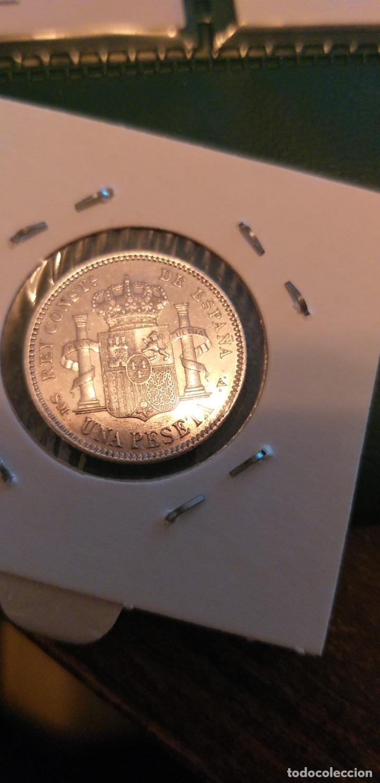 Monedas de España: 1 PESETA 1905*04 PRECIOSA BRILLO - Foto 2 - 147199782