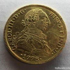 Monedas de España: ¡¡ ESCASA !! MONEDA ORO 8 ESCUDOS CARLOS III. AÑO 1773. CECA DE MEXICO. ENSAYADORES F.M. Lote 147202270