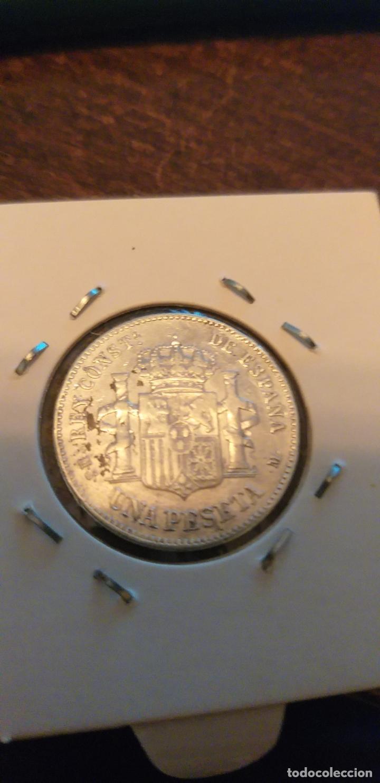 Monedas de España: 1 PESETA 1885*83 ALFONSO XII PLATA - Foto 2 - 147204874