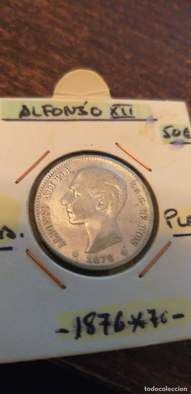 1 PESETA 1876*76 ALFONSO XII PLATA LA MÁS RARA DE SU SERIE (Numismática - España Modernas y Contemporáneas - De Isabel II (1.834) a Alfonso XIII (1.931))