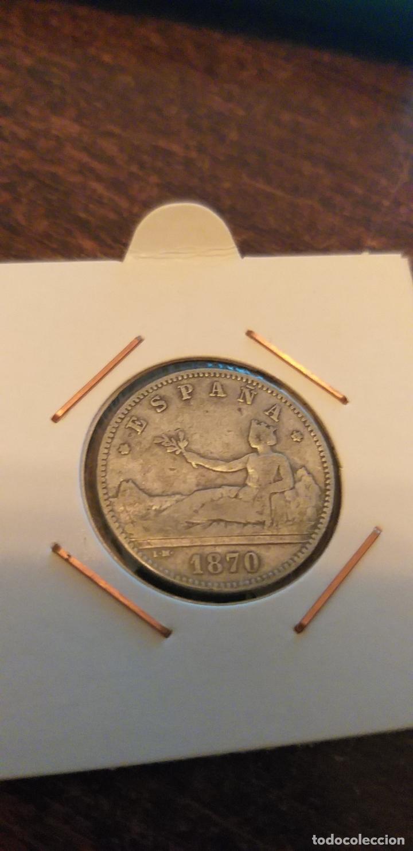 Monedas de España: 1 PESETA 1870*70 1ª REPÚBLICA ESPAÑOLA - Foto 2 - 147207390
