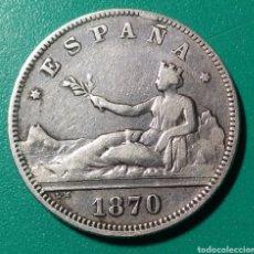 Monedas de España: 2 PESETAS PLATA 1870 *73 DEM. GOBIERNO PROVISIONAL.. Lote 147254849