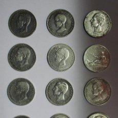 Monedas de España: 12 MONEDAS DE 5 PESETAS DE PLATA GOBIERNO PROVISIONAL, AMADEO I, ALFONSO XII, ALFONSO XIII LOTE-1436. Lote 147297610
