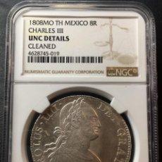 Monedas de España: ¡¡ SINCIRCULAR !! MONEDA 8 REALES PLATA CARLOS IV. AÑO 1808. MEXICO. T.H. Lote 147412230