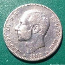 Monedas de España: 1 PESETA PLATA 1882 *82 MSM. ALFONSO XII.. Lote 147528366