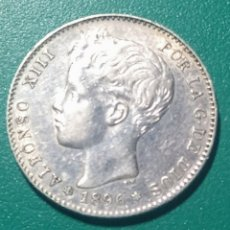 Monedas de España: 1 PESETA PLATA 1896 *96 PGV. ALFONSO XIII.. Lote 147541426