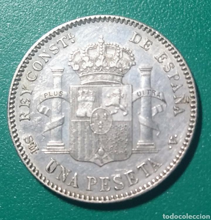 Monedas de España: 1 Peseta plata 1901 *01 SMV. Alfonso XIII. - Foto 2 - 147545925
