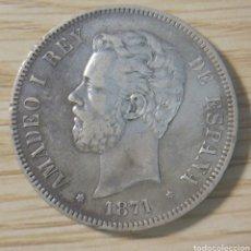 Monedas de España: 5 PESETAS AMADEO I 1871*18*73 M. Lote 147576988