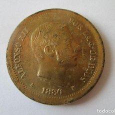 Monedas de España: ALFONSO XII * 50 CENTAVOS DE PESO 1880 - FILIPINAS * PRUEBA LATON. Lote 147593826