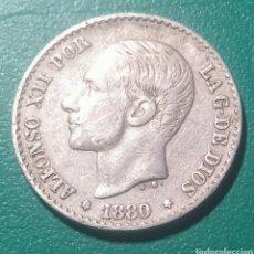 Monedas de España: 50 CÉNTIMOS PLATA 1880 MSM. ALFONSO XII.. Lote 147623166