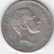 Monedas de España: ALFONSO XII: 50 CENTAVOS DE PESO 1885 - FILIPINAS ( PLATA ). Lote 147685946