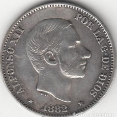 Monedas de España: ALFONSO XII: 50 CENTAVOS DE PESO 1882 - FILIPINAS ( PLATA ). Lote 147687750