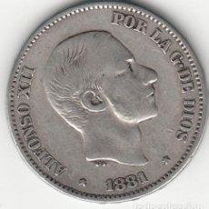 Monedas de España: ALFONSO XII: 50 CENTAVOS DE PESO 1881 - MANILA ( PLATA ). Lote 147689426