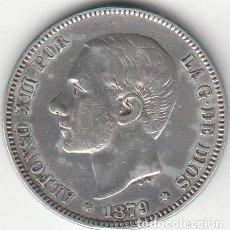 Monedas de España: ALFONSO XII: 2 PESETAS 1879 * 18-79 ( PLATA ). Lote 147699442