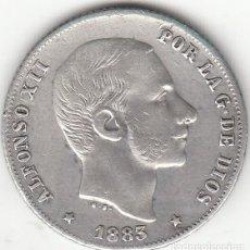Monedas de España: ALFONSO XII: 20 CENTAVOS 1883 MANILA ( PLATA ). Lote 147702642
