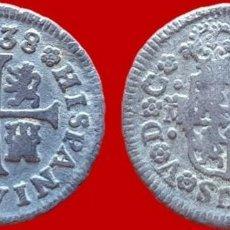Monedas de España: FELIPE V, 1/2 REAL DE PLATA, MADRID 1738 - 16 MM / 1,40 GR.. Lote 147702654