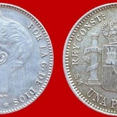 Monedas de España: ALFONSO XIII, 1 PESETA DE PLATA 1901(E.19-01). 23 MM / 4,94 GR.. Lote 147703158